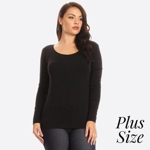 Seamless Long Sleeve Top- Plus size